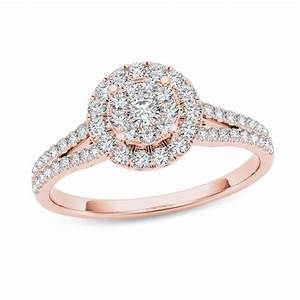 12 CT TW Composite Diamond Frame Engagement Ring In