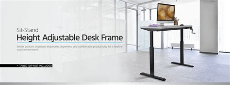 monoprice sit stand desk review sit stand height adjustable table desk frame workstation