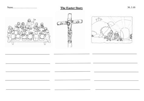 Simplified Easter Story Template With Pics By Lottielot  Teaching Resources Tes
