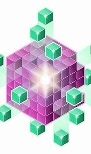 Purple and green cubes | Free SVG
