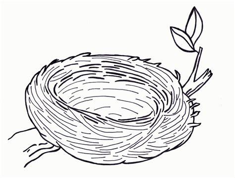 a coloring page nest coloring page coloring home
