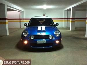 Mini Cooper 2010 essence voiture d'occasion rabat couleur Bleu clair
