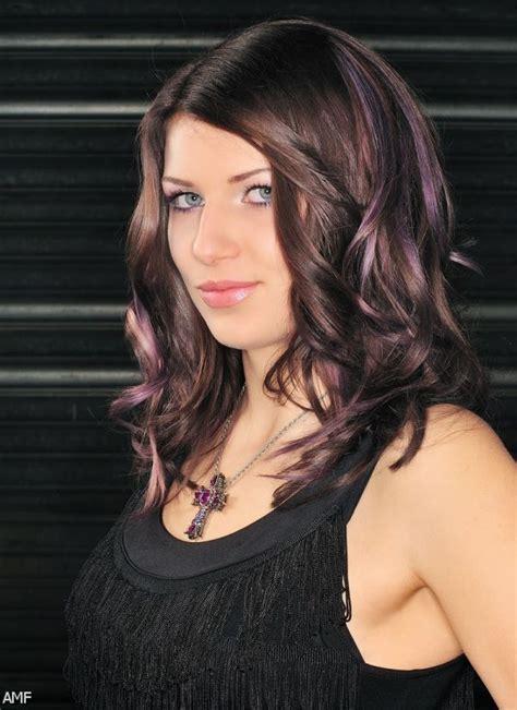 Dark Brown Hair With Purple Highlights Underneath 2015