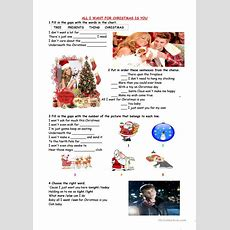 All I Want For Christmas Is You Worksheet  Free Esl