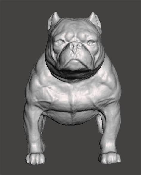 american bully dog  model  printable stl cgtradercom