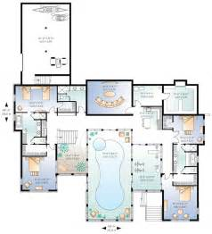 pool house plans with bedroom beautiful home plans with pool 6 house plans with indoor