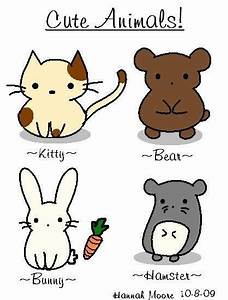 cute little guys to draw | Easy drawings, Animal drawings ...