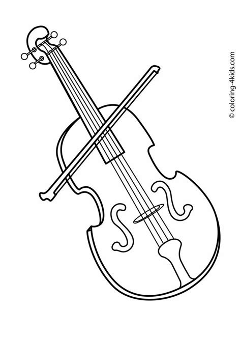 violin musical instruments coloring pages  kids printable  coloring  coloring