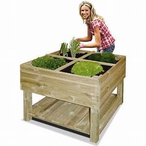 Mini Potager En Bois : pour terrarium jardin potager sur pieds 100 x 100 x 80 cm ~ Premium-room.com Idées de Décoration