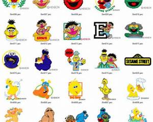 sesame street embroidery designs on Etsy, a global ...
