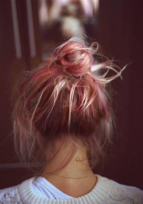 messy buns on tumblr
