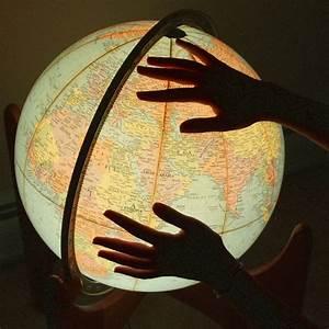 beautiful, earth, globe, hands, lights, photography ...