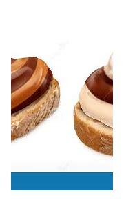 Chocolate Swirl Duo Spread On Bread. 3d Vector Realistic ...