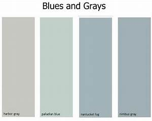 Benjamin Moore - Harbor Gray, Palladian Blue, Nantucket