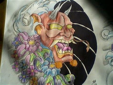 tattoo topeng jepang japanese mask tattoo album