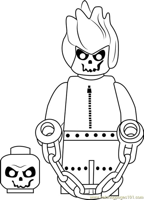 lego ghost rider coloring page  lego coloring pages coloringpagescom