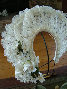 Vintage Wedding Halo 1930s Tiara Veil Headpiece Headband