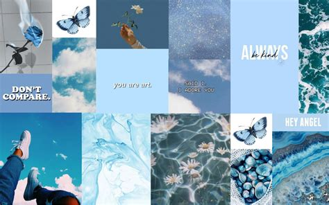 blue aesthetic pc wallpapers