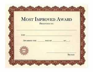 Most improved certificate template 28 images most for Most improved certificate template