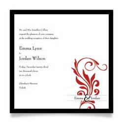 reception only invitations invitation wording for reception only sles