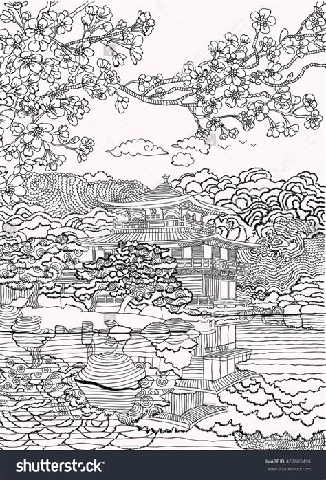 japan coloring pages shutterstock  adult