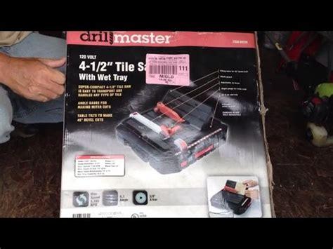 Florcraft Tile Saw 4 1 2 by Portable 4 1 2 Cut Tile Saw