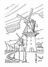 Windmolens Windmill Coloring Windmills Kleurplaat Kleurplaten Farm Van Pages Template Kleurplatenenzo Nl Hout Adult Fun Holland Sheets Kunst Pyrography Kleuren sketch template