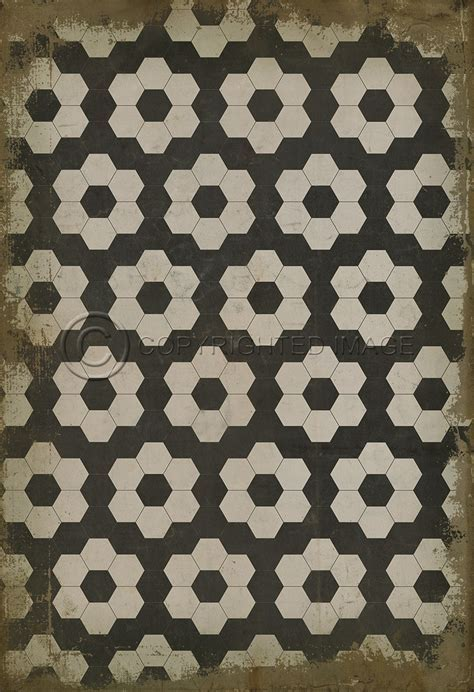 Vintage Vinyl Floor Cloth Pattern 2 Resonance   Pura Vida