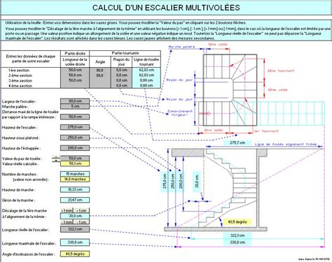 travaux publics fichier excel calcul d un escalier 224 plusieurs vol 233 es