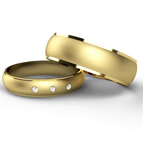 matching wedding rings his and hers 9ct yellow gold bands ebay