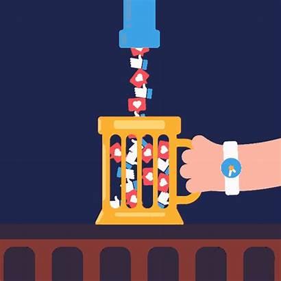 Addiction Social Redes Gifs Sociales Ilustre Animation