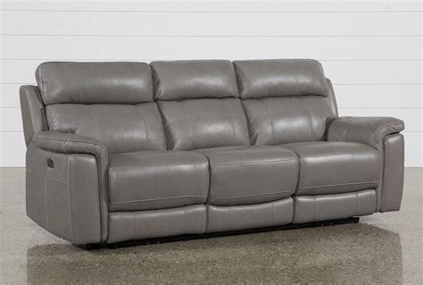 Power Leather Recliner Sofa by Dino Grey Leather Power Reclining Sofa W Power Headrest