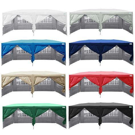 ez up gazebo quictent silvox 174 10x20 ez pop up canopy gazebo tent