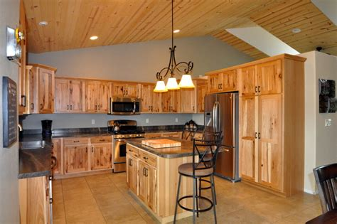 kitchen cabinets pictures gallery country style rustic hickory farmhouse kitchen 6321