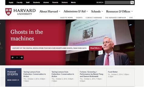 scholastic college university website layouts