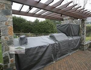 Custom sunbrella cover for outdoor kitchen helena for Outdoor kitchen covers