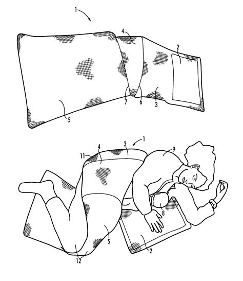 Patent Us6708354 Adjustable Wrap For Pillow Used For