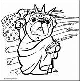 Pug Coloring Pages Print sketch template