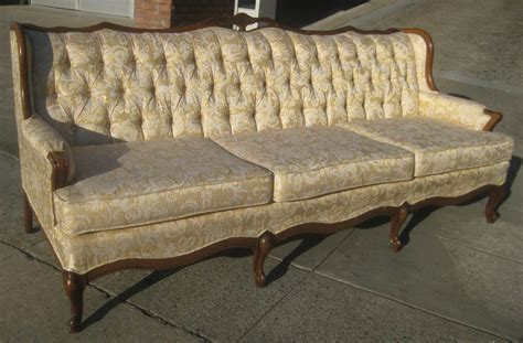 Vintage French Sofa Antique French Carved Cane Back Sofa