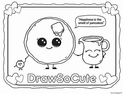 Coloring Draw Pancake Drawing Pages Printable Sheet