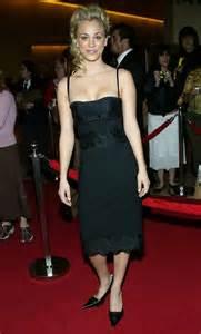 Kaley Cuoco Black Dress
