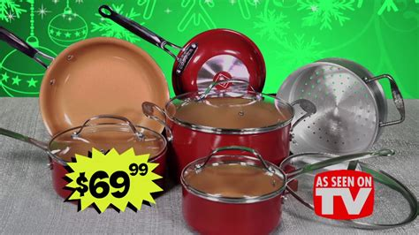 ollies  black friday deals red copper cook set youtube