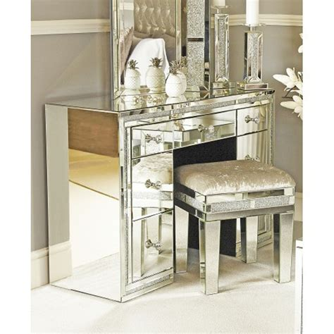 dressing table with mirror and drawers