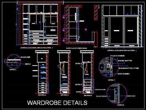 Sliding Wardrobe Cad Detail   Autocad DWG File   Plan n Design