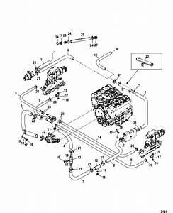 Mercruiser 4 3l Mpi Alpha    Bravo Standard Cooling System  Seven Point Drain  Parts