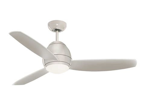 brushed steel avruc outdoor ceiling fan w light