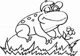 Toad Coloring Cane Pages Kikker Draw Enfants Coloriages Drawings Kleurplaten Frog1 Designlooter Brilliant Frog sketch template