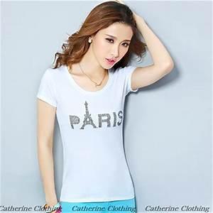 Hot Sale Diamond Printed T Shirts For Teen Girls O neck ...