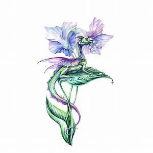 Fairy Dragon Painting by Anne Koivumaki - Fine Art Anne