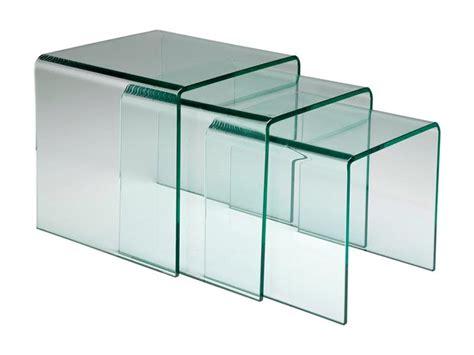 table bout de canapé en verre table gigogne bout canapé verre meuble bois deco nord